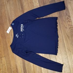 NWT Justice long sleeved sz 14/16